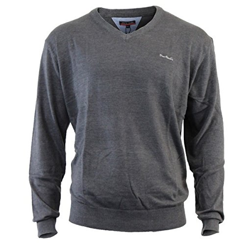 Pierre Cardin V Neck Pullover - M, Anthracite
