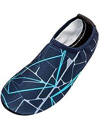 Zapatos de Playa a Rayas para Hombres Natación Calcetines de Buceo Zapatos a la Deriva para vadear por el río