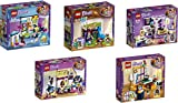 Steinchenwelt Lego Friends 5er Set 41327 41328 41329 41341 41342 Mias + Stephanies + Olivias + Andreas + Emmas Zimmer
