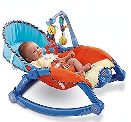 Baby Bucket Newborn To Toddler Portable Baby Rocker (Blue)
