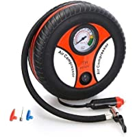 FLOWMEX Portable Electric Mini DC 12V Air Compressor Pump for Car & Bike Tyre Tire Inflator Pump for Car and Bike Tyre…
