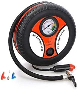 FLOWMEX Portable Electric Mini DC 12V Air Compressor Pump for Car & Bike Tyre Tire Inflator Pump for Car and Bike Tyre Tire Inflator