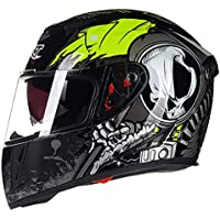 Goney Motorcycle Helmet Full-face Scooter Helmet Double Goggles Anti-fog Safety Fashion Personality for Men Women-001