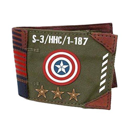 Captain America Vintage Militärarmee Zweifachgefaltete Geldbörse Boxed ()