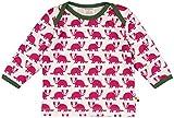 loud + proud Unisex Baby Langarmshirt Shirt, Druck, Violett (Berry Ber), 92