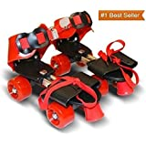 Famous Quality® Roller Skates for Kids Age Group 4-12 Years Adjustable Inline Skating Shoes with School Sport - Multi Color (Offer 1 Year Warranty)