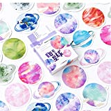 VIVIANU 45 Unids Cartoon Planet Stickers, Snowboard Laptop Equipaje Nevera Album Scrapbook Stickers, Regalo Para Niños