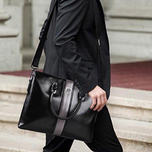 Männer Upmarket Qualität Business Casual Einzelne Schulterbeutel Laptop Rucksäcke Blau Green