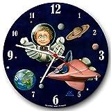telescope enfant Kiddis Knubbelnasen enfant motif horloge murale Ø 28 cm - Petit astronaute