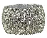 Baumwolle Craft–4Pack Perlen Serviette Ring Set–Hand Made by aufwendig gestaltet–Eine schöne Ergänzung zu Ihrem Tisch Dekor silber