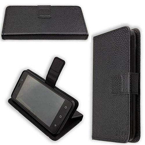caseroxx Hülle / Tasche Bookstyle-Case Medion Life E4504 MD 99537 Handy-Tasche, Wallet-Case Klapptasche in schwarz