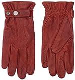 Didso Herren Leder Handschuhe aus Lammnappaleder, mit Verschlussriegel, drei Abnäher, warm, klassisch, günstig, reduziert, Burnt Sienna L