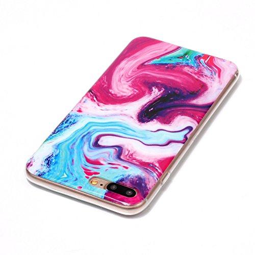 EKINHUI Case Cover Für Apple IPhone 7 Plus Rückseiten-Abdeckung Weiche flexible dünne u. Leichte bunte TPU pretektive Silikon-Kasten-Abdeckung ( Color : A ) D