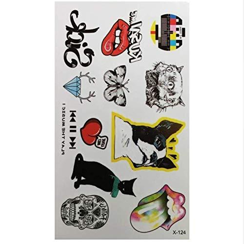 ruofengpuzi wasserdichte Farbe Hund Katze Lippen Tattoo Temporäre, Körper Arm Kunst Temporäre Tätowierung Aufkleber Party Fake Tattoo Body Art Sticker Make-up