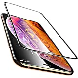 Aeidess Full Edge Scratch Guard Tempered Glass Screen Protector for Apple iPhone 11 Pro Max/Xs Max (Black) (Pack of 1)