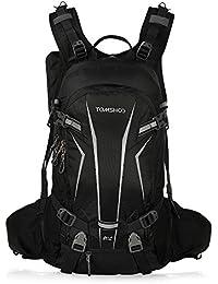 TOMSHOO Mochila Ciclismo 20L/30L Impermeable para Excursionismo Ciclismo Alpinismo Senderismo Camping al Aire Libre con Cubierta de Lluvia y del Casco