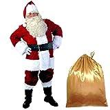 weihnachten rot komplette weihnachtsmann - anzug deluxe männer kostüme