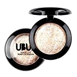Barbarer Lidschatten Palette, Single Gebacken Lidschatten Palette,Shimmer Lidschatten Pulver Eye Shadow Makeup Metallic Kosmetik Eyeshadow Palette (#03)