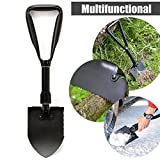 BABAN Folding Shovel Outdoors Shovel Gardening Backpacking Hiking and Camping Multi-functioning Steel Spade Gardening Shovels by BABAN