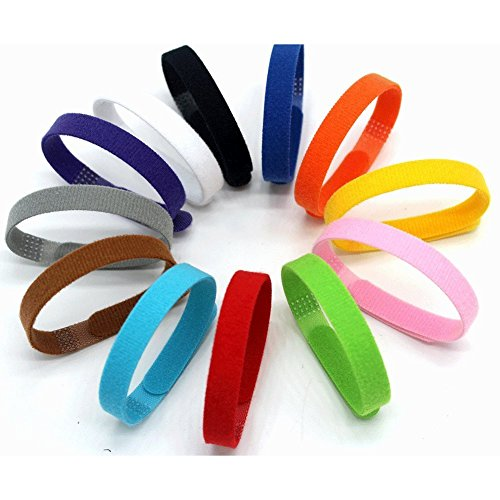 12 Couleurs Chiot ID Colliers, Wandlee réglable Velcro...