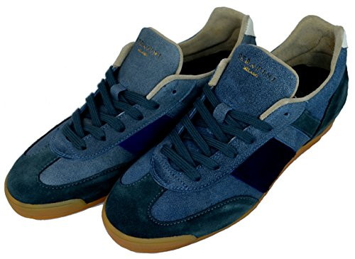 Scarpe Serafini Luxury Uomo Sneaker Men Art. 4522 Replica Blue-40