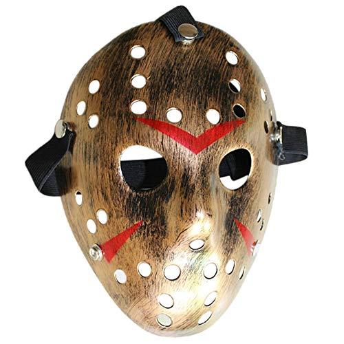 Mascara Halloween Jason, Zolimx Máscara de Halloween Terror Máscara de Cara Baratas Máscara de Disfraces (Bronce)