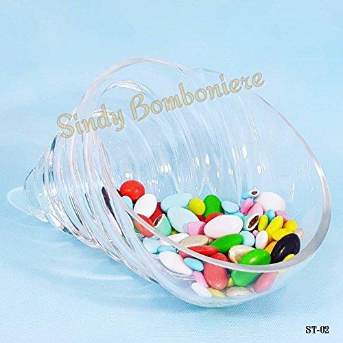 Conchiglia centrotavola porta confetti in vetro per ogni evento confettata