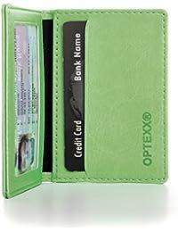 OPTEXX® Tarjetero RFID/NFC Maik Green de piel vegi con OPTEXX® Protección