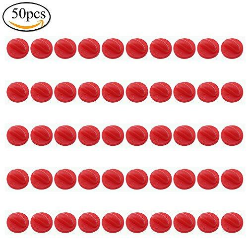 pingranso 50Butterfly PVC-Kupplung Gummi Pin Rücken Keepers Ersatz Uniform Badge Comfort Fit Krawatte Tack Revers PIN Unterstützung Halter Schließe rot (Krawatte Fit)