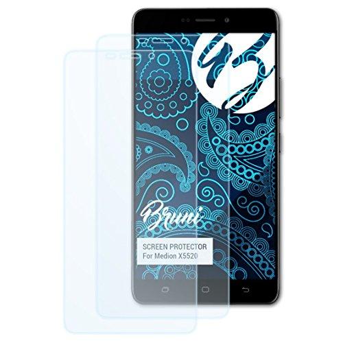 Bruni Schutzfolie für Medion X5520 Folie, glasklare Bildschirmschutzfolie (2X)