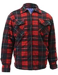 Hazy Bleu avec doublure en fourrure pour homme chemise à carreaux avec doublure en polaire chemises pour travail hiver chemises