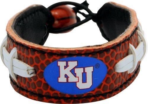 Kansas Jayhawks Classic (Jayhawk Logo) Fußball Armband Ncaa-leder Fußball