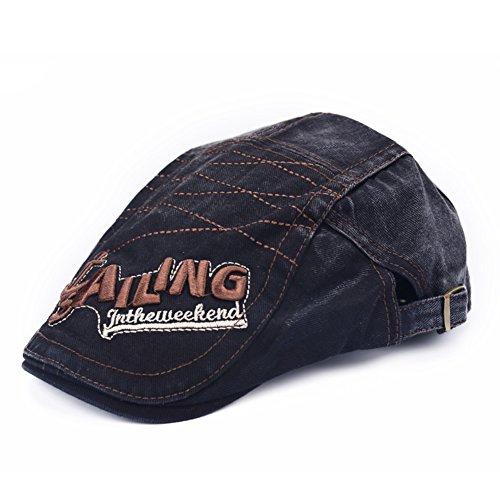 Printemps et automne chapeaux/Beret/ les hommes et les femmes sauvages qui avancent le bouchon/ Tide lavé casquette de denim/Hommes Femmes chapeau occasionnel D