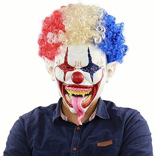 WEII Halloween Make-up Maske Clown Maske Halloween Latex Lustige Kopfbedeckung,Bild,Einheitsgröße