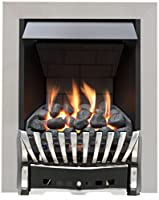 Eastleigh Slimline Radiant Top Control Gas Fire - Chrome/Black-P