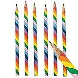 Elfen und Zwerge 6 x Buntstifte Stift Regenbogen Mehrfarbig Malen Basteln Bleistift Mitgebsel Kindergeburtstag Kindergarten Einschulung