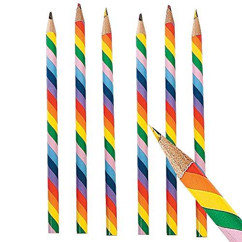 6 x Buntstifte Stift Regenbogen mehrfarbig Malen Basteln Bleistift Mitgebsel Kindergeburtstag...