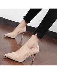 Xue Qiqi Zapatos de la Corte La punta fina y elegante solo zapatos de agua personalizada y versátil de perforación...