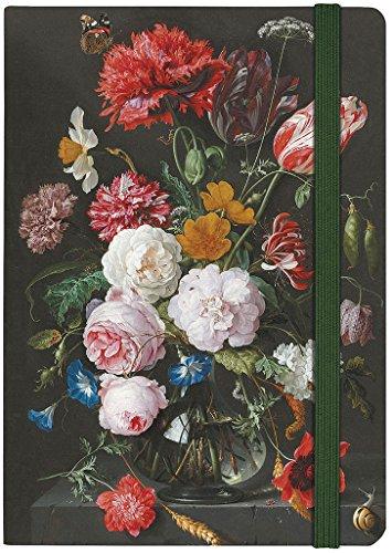 moses. Notizbuch Stillleben mit Blumen von de Heem | Auch als Tagebuch geeignet | Din A5 | Liniert | 160 Seiten