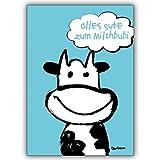 1 Babykarte: Komische Babykarte zur Geburt: Alles Gute zum Milchbubi