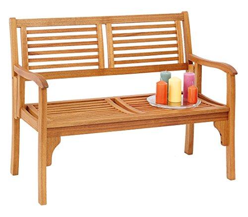Dehner Klappbank Douglas, 2-Sitzer, ca. 119 x 62 x 90 cm, FSC Akazienholz, geölt, natur - 5