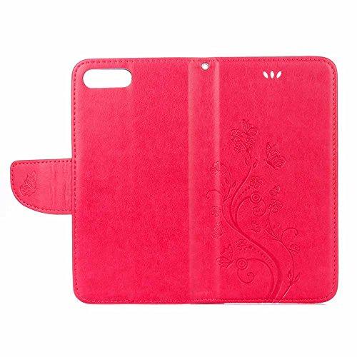 custodia iphone 8 rossa pelle