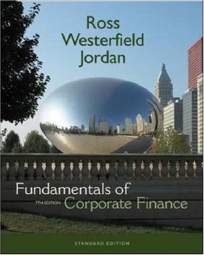 Fundamentals Of Corporate Finance (Mcgraw-Hill/Irwin Series in Finance, Insurance, and Real Estate) by Stephen A. Ross (2006-06-30)