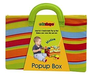 Halilit Edushape Mediano Pop-Up Toy Box Solución de Almacenamiento (30,5x 30,5cm x 20cm Cuando se Abre)