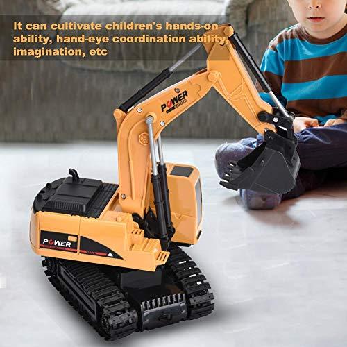 RC Baufahrzeug kaufen Baufahrzeug Bild 1: Dilwe Fernbedienung Bagger, 6 Kanäle Bagger LKW 1/24 RC Engineering Baufahrzeug Spielzeug Geschenk für Kinder ( Kunststoff)*