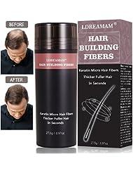 Hair Building Fibers,Hair Fibers,Hair Loss Concealer,Densificateur de cheveux,Cheveux fins et clairsemés,Zone de calvitie – Convient aux hommes et aux femmes - Noir 27.5g