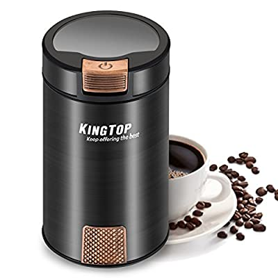KINGTOP Coffee Grinder Electric 200W Stainless Steel Blade Grinder for Coffee Bean Seed Nut Spice Herb Pepper [2 Years Warranty] … from KINGTOP