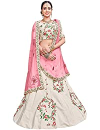 Women'S Off White Color Embroidered Lehenga