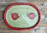 Servierplatte Schlemmerplatte oval in erdbeere