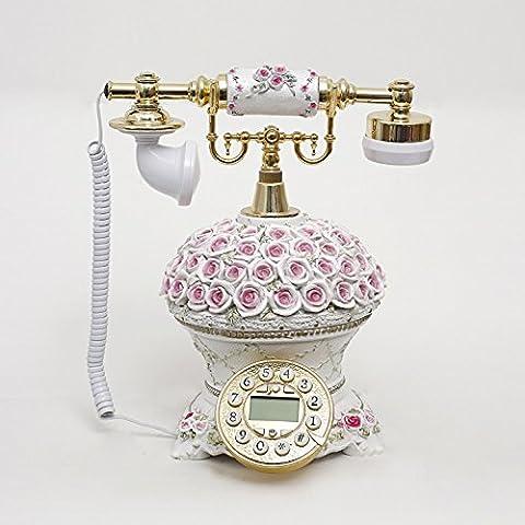 Xie CND Creative antico telefono vintage occidentale rustico landline cablato link chiamate mostra
